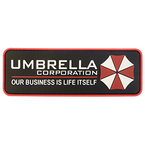 Umbrella Corporation Resident Evil Cosplay PVC Gummi 3D Touch Fastener Aufnäher Patch