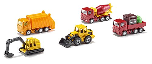 Siku 3656283 6283, Geschenkset 4, Baustellenfahrzeuge, 5-teilig, Metall/Kunststoff, Bewegliche Teile, Multicolor, Single, Multicolour