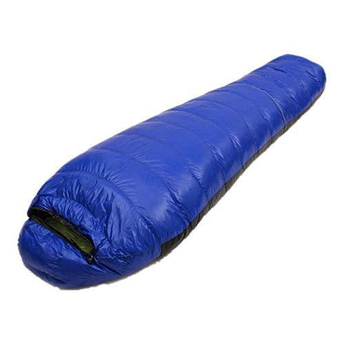 TAHRH Deckenschlafsack,Outdoor Daunenschlafsack, Wandern Reisen Camping, Nähen Erwachsene, Vier Jahreszeiten Universal @ 1800g_White_Goose_down_Blue -