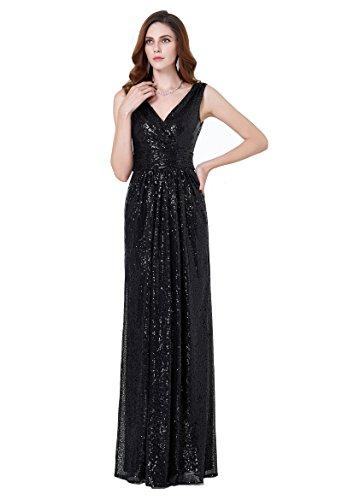 Hochzeit Damen schulterfrei Mermaid Paillette formell Kleid Größe 46 KK199-4 (Meerjungfrau Strapless Kleid)