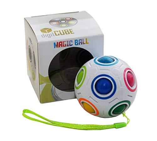 digitCUBE Magic Ball - Spielzeug Regenbogen Puzzle Zauberball für Konzentration - Mädchen Jungen Geschenk für Kinder Geburtstag