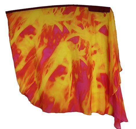 Flame Multiplied Silk Printed Wing Worship Flags - (Single - 1 flag) - Silk Banner