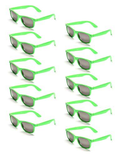 Onnea 10 Stücke Party Favorisiert Sonnenbrillen UV400 Schutz für Kinder Nur (10 Grün)