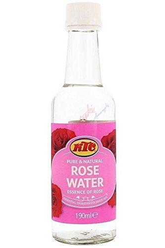 Ktc Pure & Natural rose Water con essenza di rosa per la pulizia della pelle, tonifica e idratante (190ml)