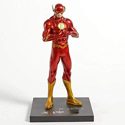 Wen Zhe DC Die Neue Justice League JLA Superheld Der Flash Barry Allen PVC Anime Action Figure Superman Modell Sammlung Spielzeug Geschenk ()