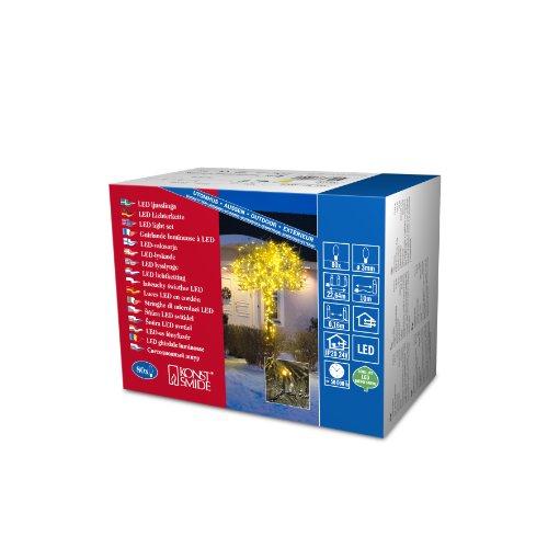 Konstsmide 3611-000 Micro LED Lichterkette / für Außen (IP44) /  24V Außentrafo / 80 gelbe Dioden / schwarzes Kabel