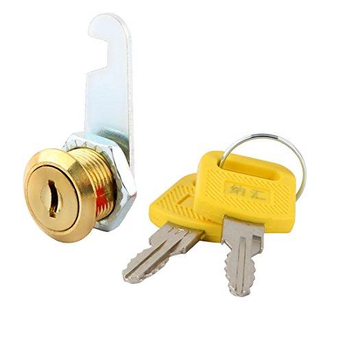 sourcing map Haushalt Familie Schrank Schublade Möbel Nocken Briefkasten Verschluss Gold Ton - Gold-ton-hardware Lock