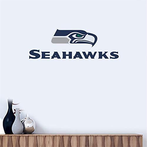 Wandtattoo Seattle Seahawks # 8 Team Logo Wandaufkleber Vinyl Wandaufklebe