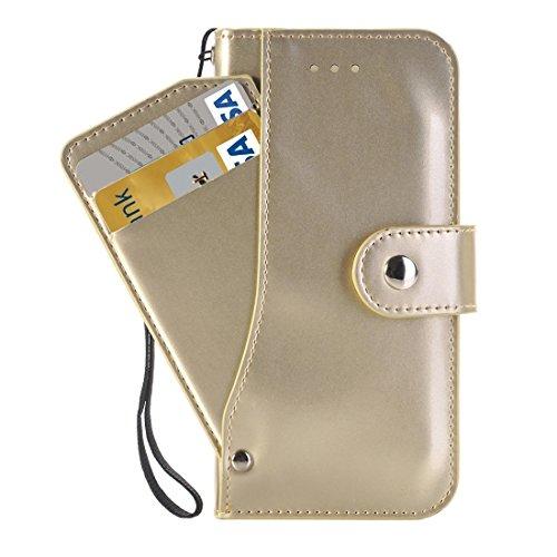 Phone case & Hülle Für iPhone 6 Plus, Horizontale Flip TPU + PU Ledertasche mit Halter & Card Slots & Wallet ( Color : Gold ) Gold