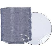 AmazonBasics - Platos de plástico desechables - Pack de 100, ...