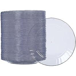 AmazonBasics – Piatti di plastica, monouso – Confezione da 100 pezzi, 19 cm