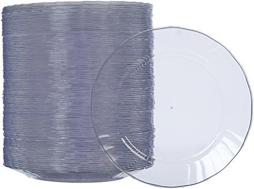AmazonBasics - Teller aus Kunststoff, Einwegteller, 100-er Pack, 19 cm