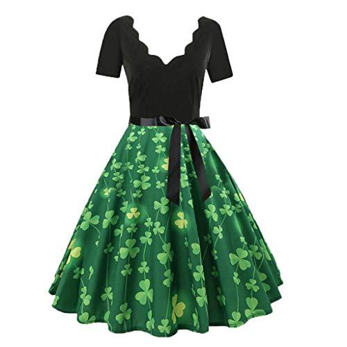 a6f33966326e Ginli Vestito Donna Elegante Donna Senza Maniche Stampa Moda Vestiti Vintage  Flare Abito Vestito Donna Manica