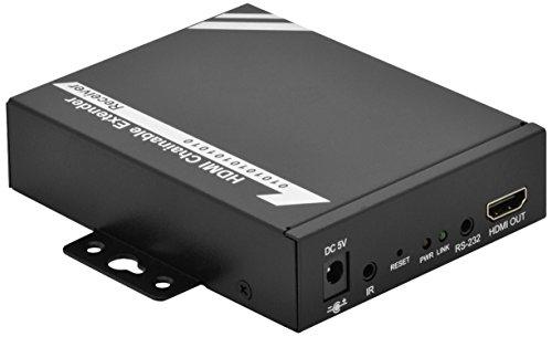DIGITUS Professional DS-55201 - HDMI über Netzwerk-Extender / -Splitter  - IP-fähig - Cat 5e, Cat 6 - kaskadierbar - Empfängereinheit für DS-53200 / DS-55200 - schwarz -