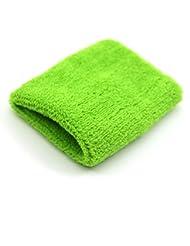 Unisexe Tennis Gym bracelet en peluche bracelet de sport Green