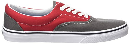 Vans Era Scarpe da Ginnastica Basse, Unisex – Adulto Multicolore (2 Tone/pewter/racing Red)