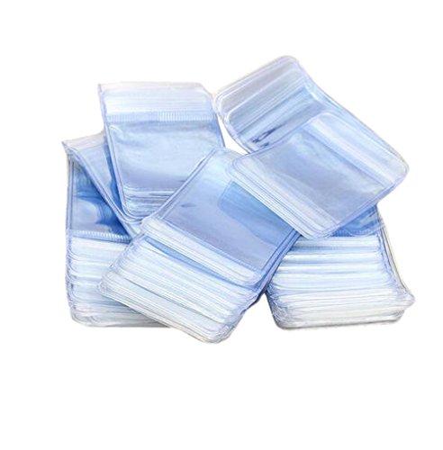furnido 100PCS transparent PVC Druckverschlussbeutel Mini Kleine wiederverschließbaren fadensiegelung Transparente Taschen Schmuck Arts Crafts Verpackung Beutel Taschen 7x10cm (Zip-lock-beutel Kleine)