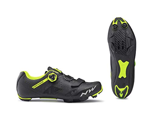 Northwave Razer MTB Fahrrad Schuhe schwarz/gelb 2019: Größe: 43