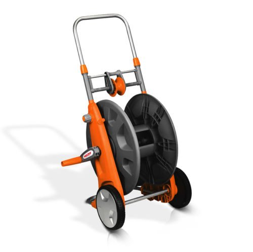 Hecht 00638 Schlauchwagen Schlauchtrommel für Gartenschläuche bis 100m