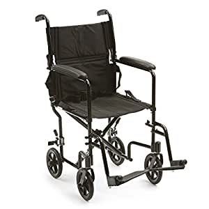 ATC19-BK - Drive Medical Lightweight Transport Wheelchair, 19 Seat, Black by Drive Medical