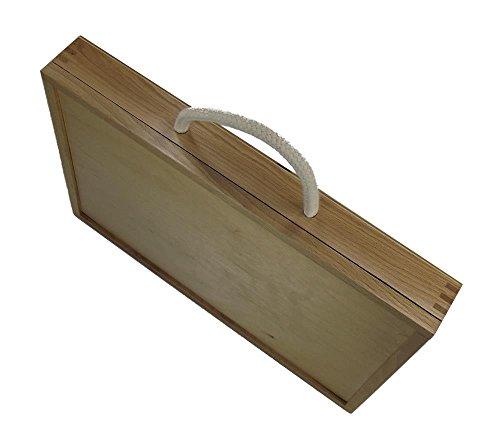 Dokumenten-Aktentasche aus echtem Holz