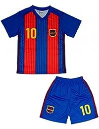 FC Barcelone - Ensemble short et maillot de foot Barcelone enfant Taille de 4 à 14 ans - 4 ans,6 ans,8 ans,10 ans,12 ans,14 ans