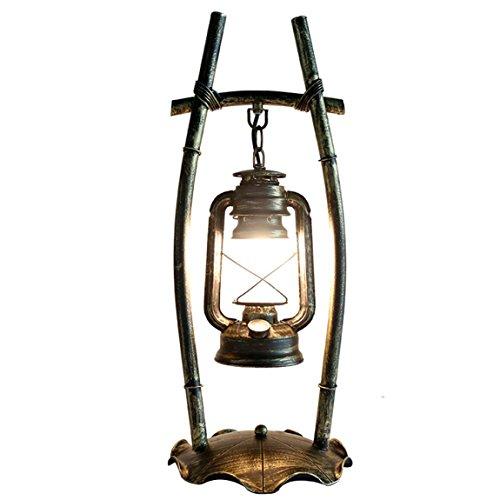 505 HZB Alter Stil Schreibtischlampe Persönlichkeit Schlafzimmer Restaurant Restaurant Zurück zu Alten Eisen Kunst Kohle Öl Lampe kreative chinesische Tischlampe -