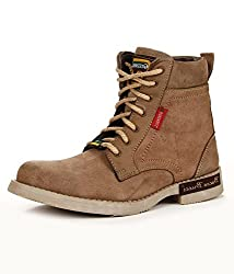 BACCA BUCCI MEN BEIGE GENUINE LEATHER BOOTS 10 UK