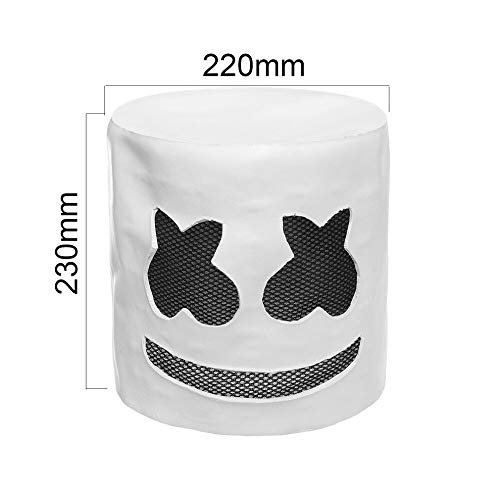 hmello Party Maske Mit Led Neu 2019 Masquerade Celebrity Halloween Cosplay Maske Latex Marshmallow Kostüm Kein LED-Licht ()