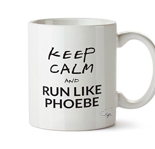 hippowarehouse Keep Calm and RUN LIKE Phoebe 283,5Tasse, keramik, weiß, One Size (10oz) (Phoebe Stein)