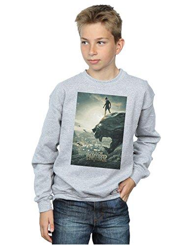 Marvel Niños Black Panther Poster Camisa De Entrenamiento