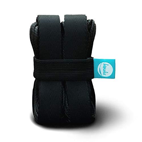 hamaka Black Mamba Suspension – ultraleichtes Aufhängesystem für Hängematten (0,4-3 m), schwarz One Size
