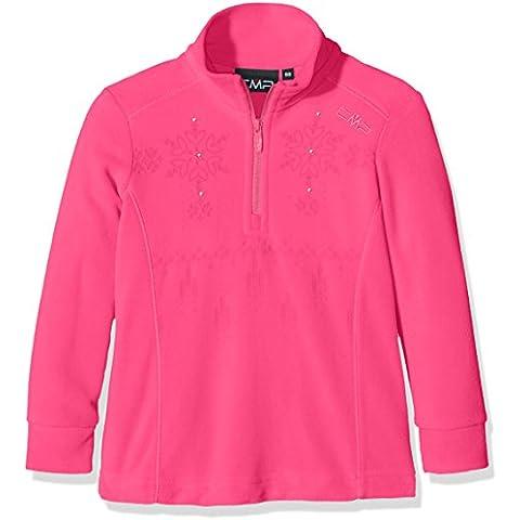 CMP maglia in pile, da ragazza Funktions Dolcevita, Bambina, Fleeceshirt Funktions Rolli, rosa caldo, 98