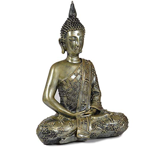 Buddha Statua con portacandele grande 31cm