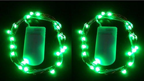 HLS 2 x 20 LED SW Cadena de batería Fairy Light en Verde