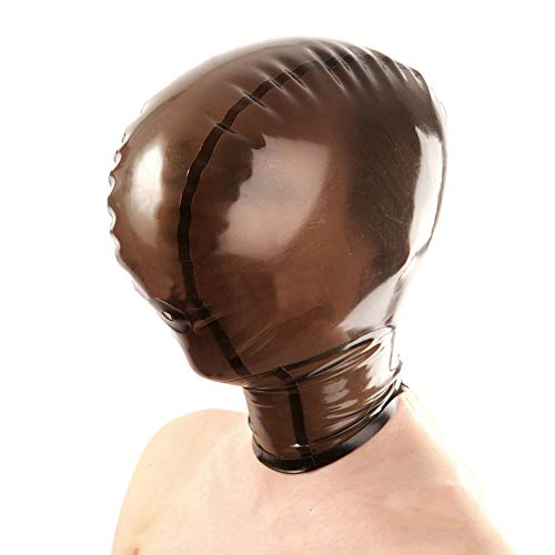Besten Am Zu Zweit Kostüm - SM Fetisch Volle Bondage Maske, geschlossene Latexmaske, Latex Maske - geschlossen Gummimaske Latexhaube Gesichtsmaske Vollmaske Latex Maske,Schwarz,M
