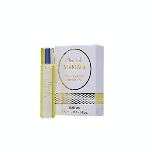 Fleurs de MARIAGE Parfüm Öl Rollerball für Damen + 5 ml Roll-on Miniatur + Beste Hochzeit Parfüm Geschenkidee + Aroma des wundervollen Festes (Jasmin-parfüm-körper-Öl)