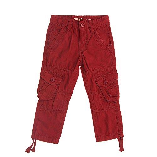 Jungen Hose, NISKO Jungen Hose 6 Pocket Jeans , Dunkelrot, in Größe 122/128 (6-pocket-hose)