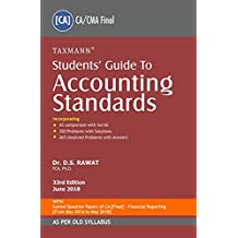 Students' Guide to Accounting Standards (CA/CMA Final) (As Per Old Syllabus) (33rd Edition June 2018)
