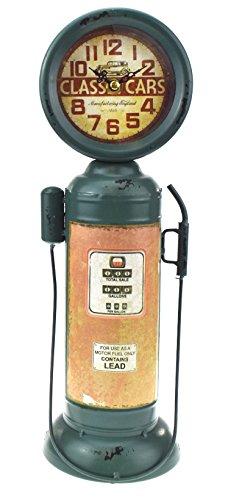 Orologio al quarzo a forma di pompa di benzina vintage, di grandi dimensioni