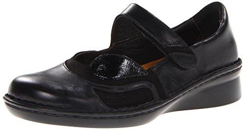 Naot Damen Conga, Madras Velvet Nubuck/Black Patent Leather, 34.5/35 EU Damen-madras