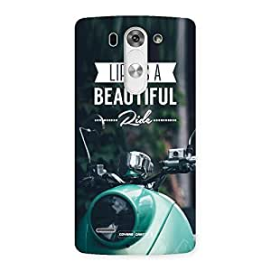 Delighted Life is a beautiful Ride Multicolor Back Case Cover for LG G3 Mini