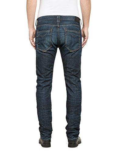Replay Herren Straight Leg Jeanshose Blau (Blue Denim 7)