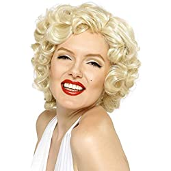 Smiffys Licenciado oficialmente Peluca de Marilyn Monroe, Rubia, Corta