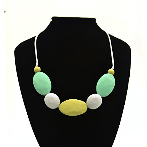 Preisvergleich Produktbild Happy-Dolle Silicone Teething Necklace Baby Safe for Mom to Wear,BPA Free Beads to Chew
