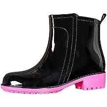 bec0ee4683 Mini Balabala Damen Chelsea Rain Boot Gummistiefel Kurzschaft Ankle  Stiefeletten Gummistiefeletten Regenstiefel