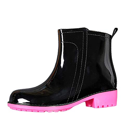 Damen Chelsea Kurze Regen Schuhe Winter Wasserdichte Gummistiefel Mode lace-up Slip-on Regen Stiefel leicht halbe höhe Gummi Stiefel Ankle Chelsea Wellies Schuhe für Frauen -