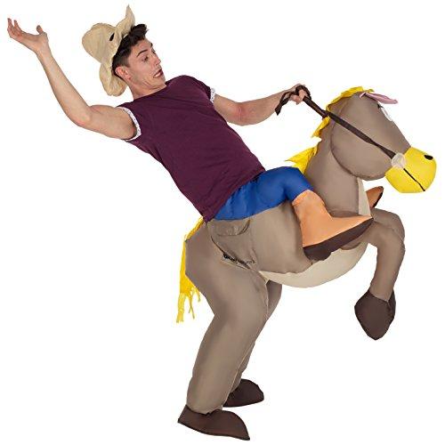 Morph MCROIHO Aufblasbares Kostüm, Unisex, Reiten Sie zu Pferd, Einheitsgröße Erwachsene (Aufblasbares Pferd Kostüm)