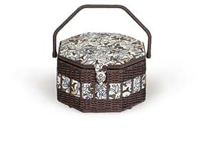 Milward Très grande boîte à couture octogonale en rotin 1P assorties