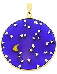 GlassOfVenice Cristal de Murano Millefiori Colgante La Noche Estrellada en  Oro Marco 1- 49bad8b479a